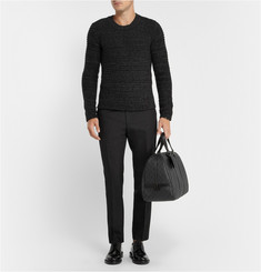 Dolce & Gabbana Gold-Fit Textured Wool-Blend Trousers