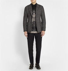 Dolce & Gabbana Gold-Fit Medieval-Print Cotton Shirt
