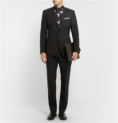 Dolce & Gabbana Slim-Fit Dice-Print Cotton-Poplin Shirt