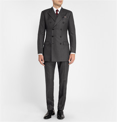 Dolce & Gabbana Charcoal Pinstripe Three-Piece Wool Suit