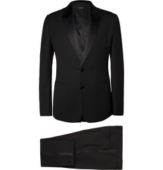 Dolce & Gabbana Black Three-Piece Wool-Blend Tuxedo