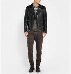 Dolce & Gabbana Slim-Fit Leather Biker Jacket