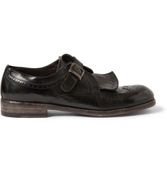 Dolce & Gabbana Leather Monk-Strap Derby Shoes