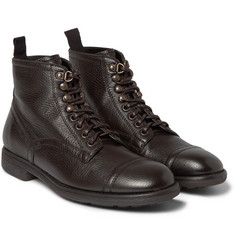Dolce & Gabbana Milano Leather Lace-Up Boots