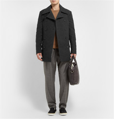 Maison Martin Margiela Cotton and Wool-Blend Herringbone Peacoat