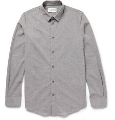 Maison Martin Margiela Slim-Fit Micro-Houndstooth Cotton Shirt