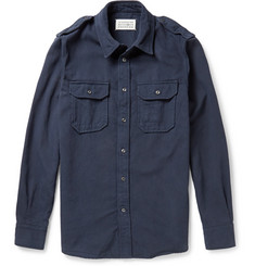 Maison Martin Margiela Garment-Dyed Cotton and Wool-Blend Overshirt