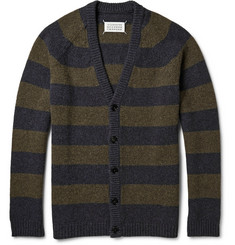 Maison Martin Margiela Striped Yak Wool Cardigan
