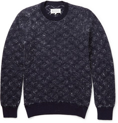 Maison Martin Margiela Patterned Knitted Wool and Mohair-Blend Sweater