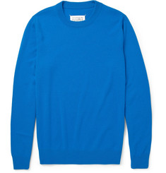 Maison Martin Margiela Nubuck Elbow Patch Wool Sweater