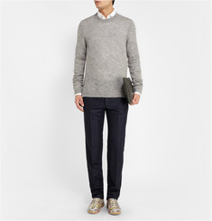Maison Martin Margiela Mélange-Knit Wool Sweater
