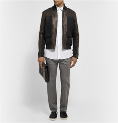 Maison Martin Margiela Slim-Fit Wool-Blend Trousers