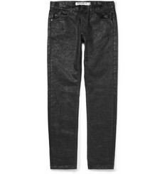 McQ Alexander McQueen Regular-Fit Coated-Denim Jeans