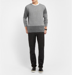 McQ Alexander McQueen Panelled Wool and Cashmere-Blend Sweater