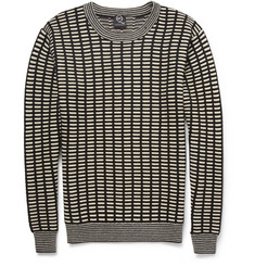 McQ Alexander McQueen Grid-Knit Wool and Cashmere-Blend Sweater