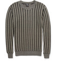 McQ Alexander McQueen - Grid-Knit Wool and Cashmere-Blend Sweater