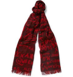 McQ Alexander McQueen Patterned Fine Woven-Cotton Scarf