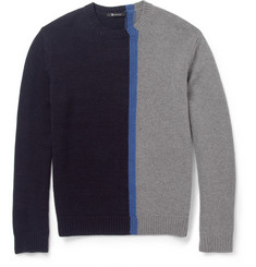 Alexander Wang Panelled Merino Wool-Blend Sweater