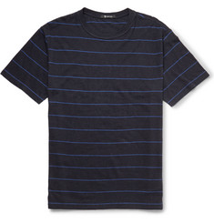 Alexander Wang Striped Linen and Cotton-Blend T-Shirt