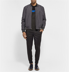 Alexander Wang Stretch-Knit Broken-Stripe Sweatshirt