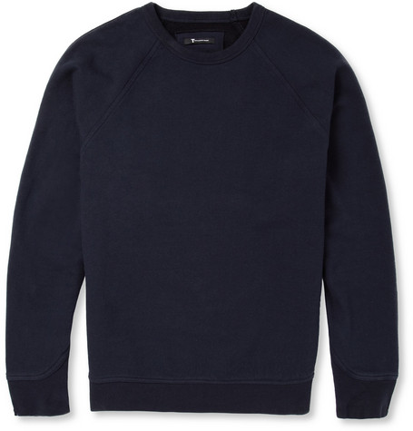 Alexander Wang Fleece-Back Cotton-Blend Jersey Sweatshirt