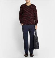 Lanvin Animal-Intarsia Wool Jacquard Sweater