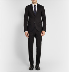 Lanvin Black Slim-Fit Wool Suit Trousers