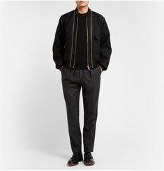 Lanvin Satin-Insert Wool Sweater