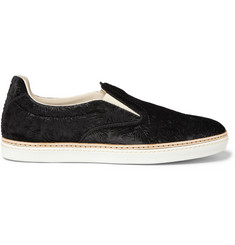 Maison Martin Margiela Embossed Velvet Slip-On Sneakers