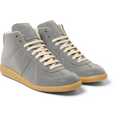 Maison Martin Margiela Reflective Snake-Embossed High-Top Sneakers