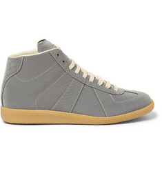 Maison Martin Margiela Reflective Snake-Embossed High Top Sneakers