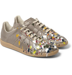 Maison Martin Margiela Paint Splash Leather Sneakers