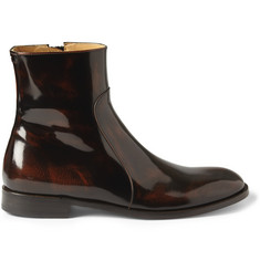 Maison Martin Margiela High-Shine Leather Chelsea Boots