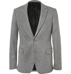 AMI Grey Slim-Fit Wool-Flannel Suit Jacket