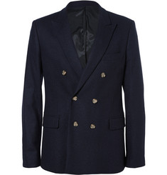 AMI Wool Double-Breasted Blazer