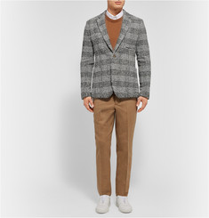 AMI Slim-Fit Checked Wool-Blend Tweed Blazer
