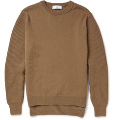 AMI Panelled Wool Sweater