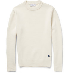 AMI Knitted-Wool Crew Neck Sweater