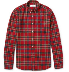 AMI Button-Down Collar Check Cotton Shirt