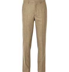 AMI Tapered Wool-Flannel Trousers