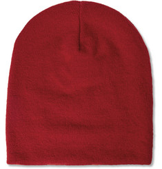 AMI Double-Faced Knitted Wool Beanie Hat