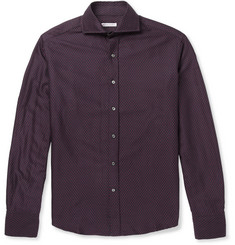 Michael Bastian Slim-Fit Heart-Jacquard Cotton Shirt