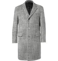 Officine Generale Patterned Wool Overcoat