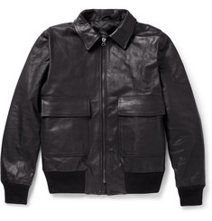 Officine Generale Leather Flight Jacket