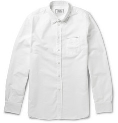 Officine Generale Button-Down Collar Selvedge-Edge Cotton Oxford Shirt