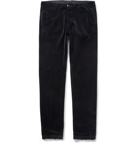 Massimo Alba Regular-Fit Washed-Velvet Trousers