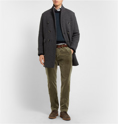 Massimo Alba Washed-Velvet Trousers