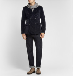 Massimo Alba Slim-Fit Unstructured Double-Breasted Velvet Blazer