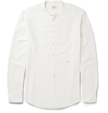 Massimo Alba Half-Placket Modal and Cotton-Blend Shirt