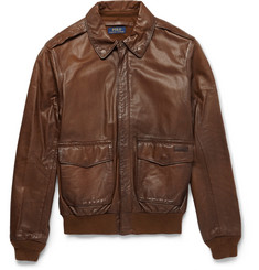 Polo Ralph Lauren Farrington Leather Bomber Jacket